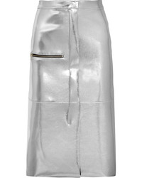silberner Lederrock von Golden Goose Deluxe Brand