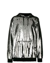 silberner Pullover mit einem Kapuze von Balmain