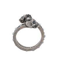 silberner Ring von Alexander McQueen