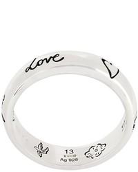 silberner Ring von Gucci