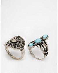 silberner Ring von Missguided