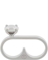 silberner Ring von MM6 MAISON MARGIELA