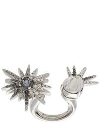 silberner Ring von Oscar de la Renta