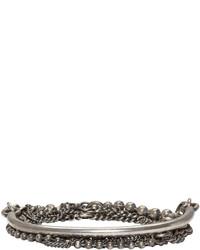 silbernes Armband von Ann Demeulemeester