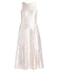 silbernes ausgestelltes Kleid aus Spitze von Miss Selfridge