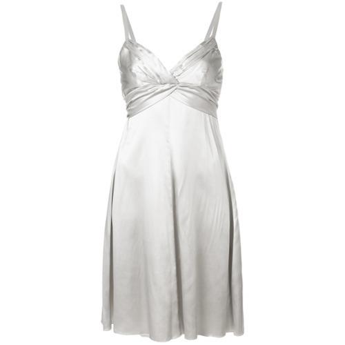silbernes ausgestelltes Kleid von Armani Collezioni