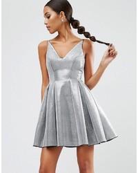 silbernes ausgestelltes Kleid von Asos
