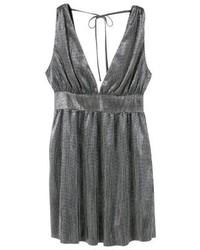 silbernes ausgestelltes Kleid von Mango