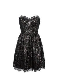 silbernes ausgestelltes Kleid von Saint Laurent
