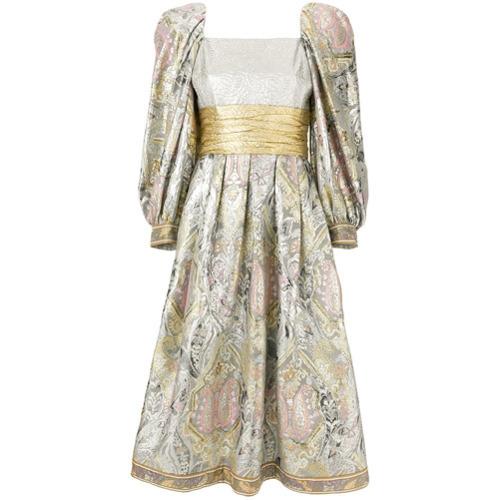 silbernes ausgestelltes Kleid von William Vintage