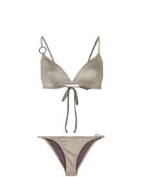 silbernes Bikinioberteil von Morgan Lane