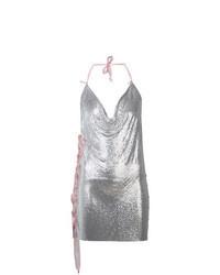 silbernes Camisole-Kleid aus Paillette