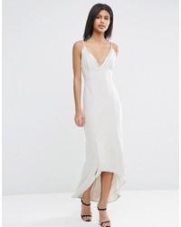 silbernes Camisole-Kleid von Asos