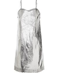 silbernes Camisole-Kleid von MM6 MAISON MARGIELA