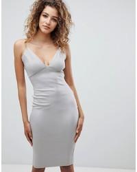 silbernes figurbetontes Kleid von AX Paris