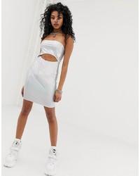 silbernes figurbetontes Kleid von New Girl Order