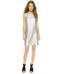 silbernes gerade geschnittenes Kleid von DKNY