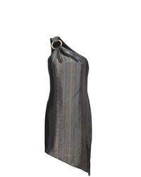 silbernes gerade geschnittenes Kleid von Haney