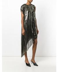 silbernes gerade geschnittenes Kleid von Lanvin