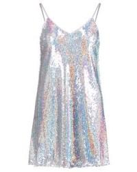 silbernes gerade geschnittenes Kleid von New Look