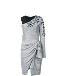 silbernes gerade geschnittenes Kleid von Patbo