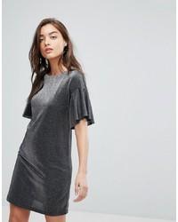 silbernes gerade geschnittenes Kleid von Warehouse