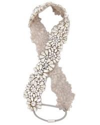 silbernes Haarband von Jenny Packham