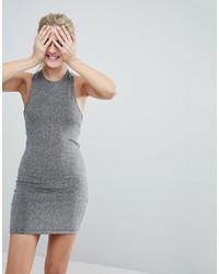 silbernes Paillette figurbetontes Kleid von Monki