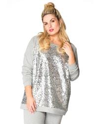 silbernes Sweatshirt von Yoek