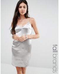 Silbernes Trägerkleid