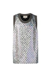 silbernes Trägershirt von Gucci