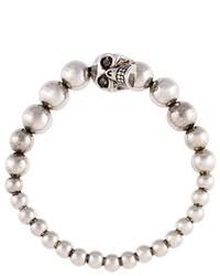 silbernes Perlen Armband von Alexander McQueen