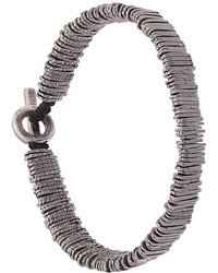 silbernes verziert mit Perlen Armband von M. Cohen