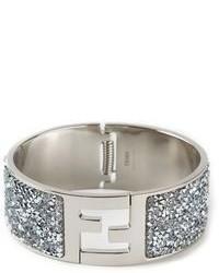 silbernes verziertes Armband von Fendi