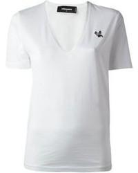 T-Shirt mit einem V-Ausschnitt