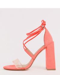 transparente Gummi Sandaletten von ASOS DESIGN