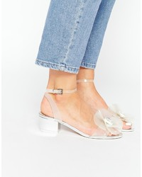 transparente Gummi Sandaletten von Asos