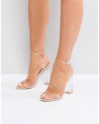 transparente Gummi Sandaletten von Public Desire