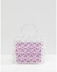 transparente Gummi Shopper Tasche von ASOS DESIGN