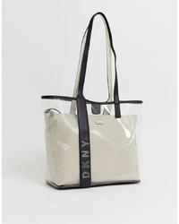 transparente Gummi Shopper Tasche von DKNY