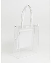 transparente Gummi Shopper Tasche von NA-KD