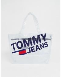 transparente Gummi Shopper Tasche von Tommy Jeans
