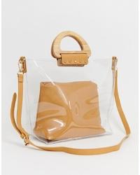 transparente Gummi Shopper Tasche von Warehouse