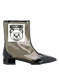 transparente Gummi Stiefeletten von Moschino
