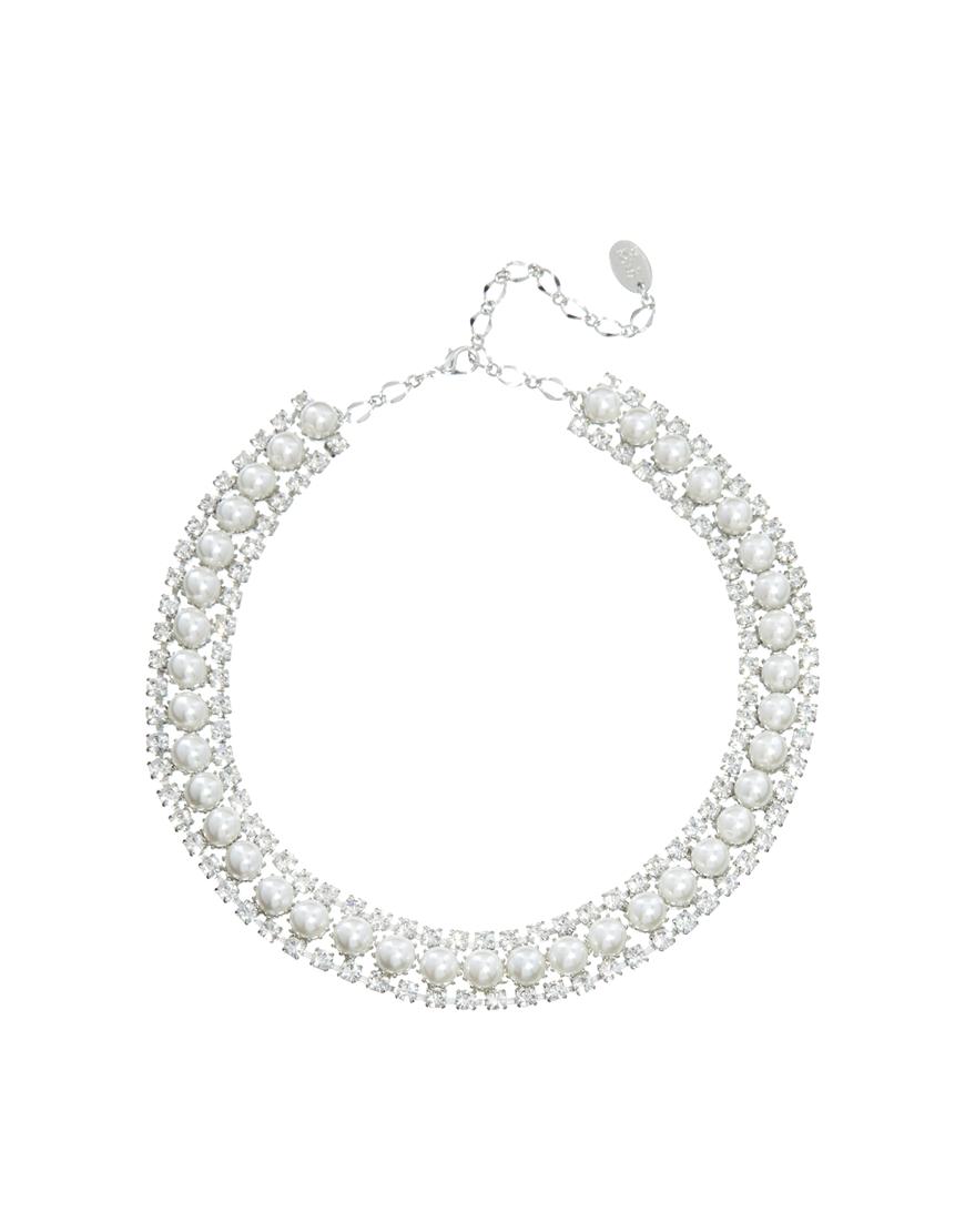 transparente Halskette von Krystal