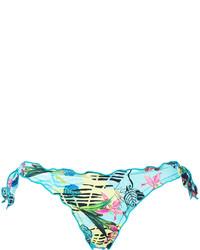 türkise bedruckte Bikinihose von Ermanno Scervino
