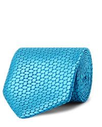 türkise bedruckte Krawatte von Charvet