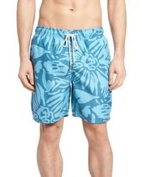 türkise bedruckte Shorts
