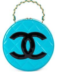 türkise Leder Clutch von Chanel