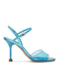 türkise Leder Sandaletten von Prada